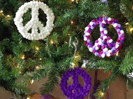 How To Make Christmas Wreath With Ornaments How To Make Peace Sign Christmas Ornaments How Tos Diy