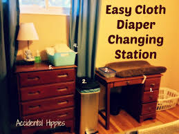 Diapers Changing Table Easy Cloth Changing Station Hippies