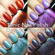 the polished hippy tonic nail polish debut collection swatches