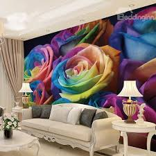 colorful roses colorful roses pattern waterproof splicing 3d wall murals
