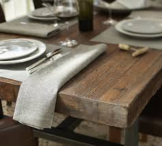 Pottery Barn Willow Table Griffin Reclaimed Wood Fixed Dining Table Pottery Barn