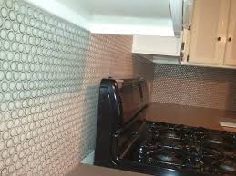 interior unique penny tile backsplash with real penny tiles