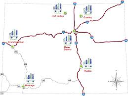 Map Of Denver Area Ameritowne On The Road Locations U0026 Schedule Young Americans Center