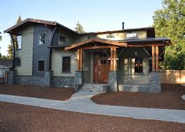 modern craftsman style house plans post modern craftsman like the section not the left addon
