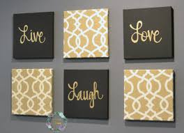 Gray And Gold Black And Gold Eat Drink Be Merry Chic Wall Art Set