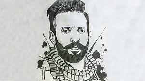 dilpreet dhillon sketch by manpreet singh wavepunjabi red