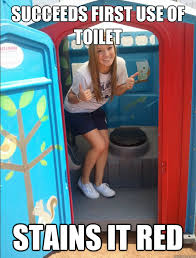 Potty Training Memes - succeeds first use of toilet stains it red successful potty