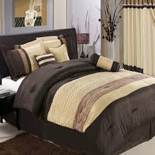 cool brown beige cotton bed comforter for men with rectangle