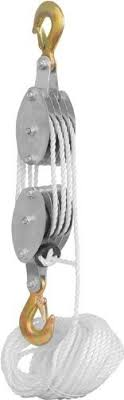 block and tackle l generic pulley block and tackle hoist amazon com