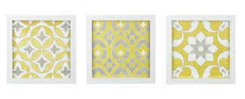 tuscan yellow bungalow rose tuscan tiles framed 3 piece graphic art print set