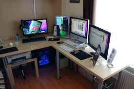 pc setup ideas office design office desk configuration ideas office desk