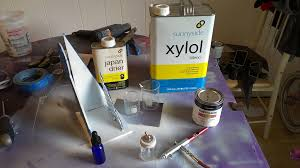 thinning oil based alkyd paints for spray application