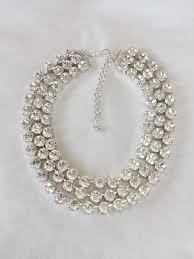 swarovski choker necklace images Triple strand swarovski crystal choker statement necklace the jpeg