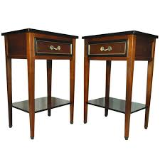 pair of french country style cherry nightstands end tables made in