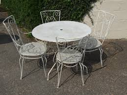 Vintage Wrought Iron Patio Furniture by G087 Vintage French Wrought Iron Patio Set