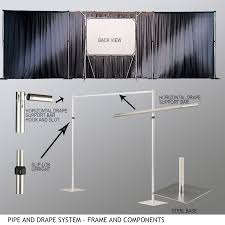 pipe and drape kits accessories for portable and folding screens draper inc