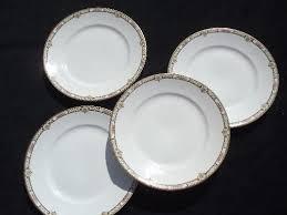 homer laughlin vintage antique homer laughlin china plates tiny pink black lattice border