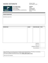 Free Construction Estimate Forms Templates by 11 Estimate Templates And Work Quotes Excel Word