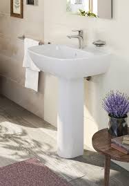 vitra zentrum 450mm basin and full pedestal