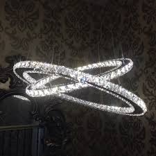 searchlight double ring chrome crystal ceiling light 8757 168cc