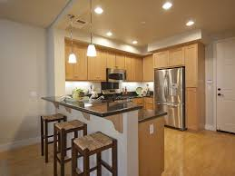 small u shape kitchen cabinets bar with pendant lighting what