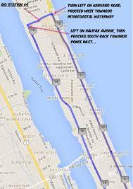 Intracoastal Waterway Map Course Maps The Daytona Beach 50k