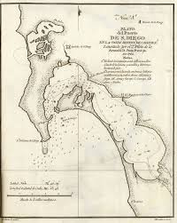 San Diego California Map by San Diego California Historical Map 1802