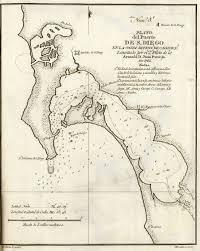 Map San Diego San Diego California Historical Map 1802
