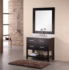 bathroom solid wood single bathroom vanity with vessel sink for
