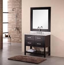 bathroom 40 inch black oak single bathroom vanity emperia for