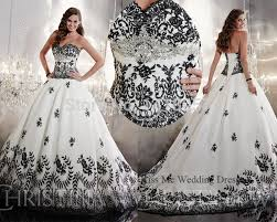 aliexpress com buy embellished white and black wedding dress