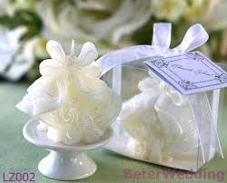 Wedding Gift Decoration Novelty Wedding Bells Candle In Gift Box With Ribbon Lz002 Wedding