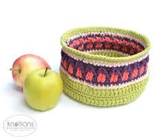fall apple basket by lilla björn crochet knotions