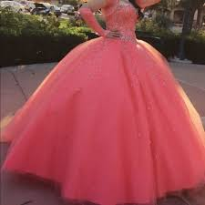 coral quince dress 60 dresses skirts beautiful coral quinceañera dress from