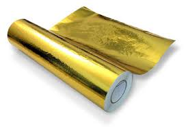 gold foil wrap resistant adhesive gold heat reflective per foot