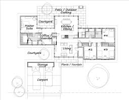 House Plans With Courtyard Modern Style House Plan 4 Beds 3 50 Baths 1984 Sq Ft Plan 460 3