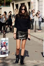 short leather motorcycle boots barbara martelo style celebrity black leather mini skirt