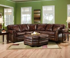 rustic leather sofa with nailheads best home furniture decoration