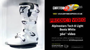 alpinestars tech 8 light boots alpinestars tech 8 light white boots youtube