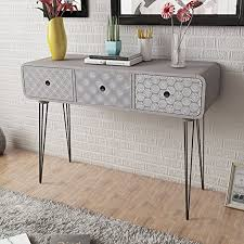 Shabby Chic Console Table Anself Shabby Chic Console Table Side Cabinet 3 Drawers For Living