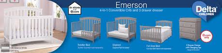 Delta Crib Bed Rails Delta Children Emerson Crib And Dresser