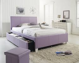purple vinyl upholstered headboard full size trundle bed home