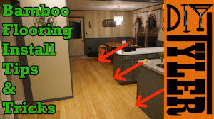Youtube Laying Laminate Flooring Bamboo Flooring Tips And Tricks Youtube