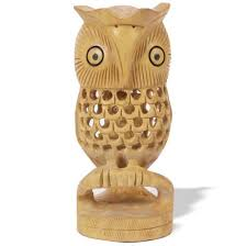 wood craft product wooden owl carved wooden owl wood