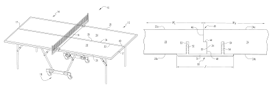 patent us7704170 four piece table tennis table having a