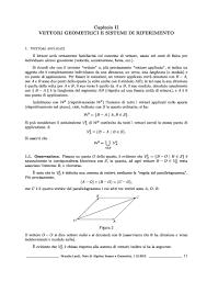 dispense algebra lineare dispensa di matematica vettori geometrici e sistemi di