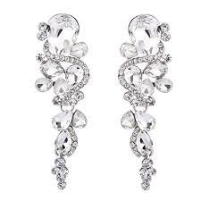silver dangle earrings for prom silver prom earrings
