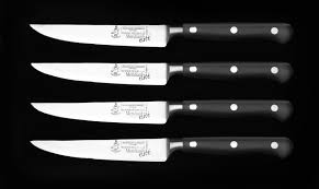 wmf kitchen knives meridian elite non serrated steak knife set 4 pc
