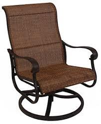 hanamint valbonne sling swivel rocker lounge chair patio