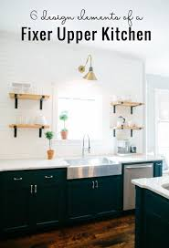 fixer blue kitchen cabinets remodelaholic 6 design elements of a fixer kitchen